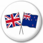 Great Britain and New Zealand Friendship Flag 25mm Pin Button Badge